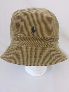 Polo Ralph Lauren Bucket Hat Brown Corduroy L XL Polo Logo #PoloRalphLauren #BucketHat