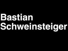 How to Pronounce Bastian Schweinsteiger FC Bayern Munchen Football Goal Penalty Kick Yellow Red Card