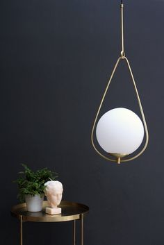 Globe Pearl Drop Ceiling Light - Ceiling Pendant Lights - Lighting
