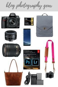 Blog Photography Gear - Nikon, Camera bags, Lightroom. The gear Lifestyle Blogger and Photographer Elizabeth Mayberry uses.