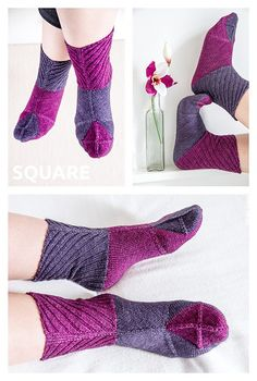 Ravelry: Square Socks pattern by Nicola Susen