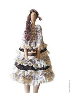 Купить Тильда кофейная - коричневый, тильда, кукла Тильда, фея, кофейная, кофе, кофейная тильда
