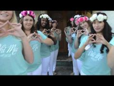 """The song is """"Burn"""" by Ellie Goulding. All rights reserved to her and Kobalt Music Publishing. Sorority Sisters, Phi Mu, Ellie Goulding, Bid Day, Floral Crown, Music Publishing, Spring 2014, Greek, Flower"""
