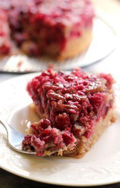 Cranberry Pecan Upside Down Cake