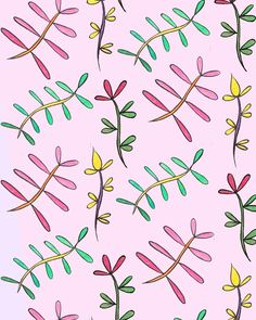 🌿🌸🌼 #illustrator #illustration #graphic #design #surfacepattern #plants #leaves #art #instaart #print #pattern #flowers #brushpen #watercolour