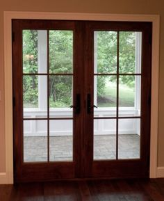 Andersen French Patio Door - change to white - love the grilles