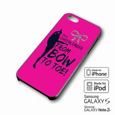 Bow To Toe Cheer iPhone case 4/4s, 5S, 5C, 6, 6 +, Samsung Galaxy case S3, S4, S5, Galaxy Note Case 2,3,4, iPod Touch case 4th, 5th, HTC One Case M7/M8