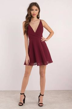 College formal dresses - Casey Cross Back Skater Dress – College formal dresses Hoco Dresses, Homecoming Dresses, Cute Dresses, Dress Outfits, Fashion Dresses, Banquet Dresses, Reception Dresses, Prom Dress Shopping, Online Dress Shopping