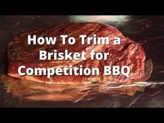 In a BBQ competition, cutting and trimming your brisket is as important as and sometimes trickier than cooking it properly. Pitmaster Malcom Reed from Killer Hogs BBQ explains how he trims his comp… Beef Brisket Recipes, Bbq Brisket, Smoked Beef Brisket, Traeger Recipes, Beef Steak, Barbecue Recipes, Grilling Recipes, Vegetarian Grilling, Healthy Grilling