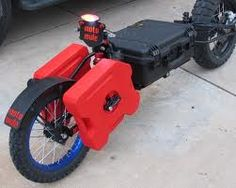 Adventure motorcycle trailers