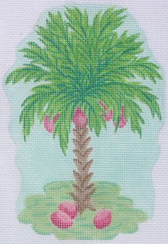 Palm Tree with Pink Coconuts Ornament