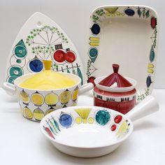 Picknick - Marianne Westman Vintage Home Decor, Vintage Kitchen, Rustic Decor, Retro Vintage, Scandinavia Design, Kitchen Prints, Mid Century Design, Vintage Ceramic, Ceramic Pottery