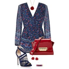 Blueberry style 284 by adgubbe on Polyvore featuring polyvore, fashion, style, Ally Fashion, Jimmy Choo, ZAC Zac Posen, Gemvara and Eternally Haute