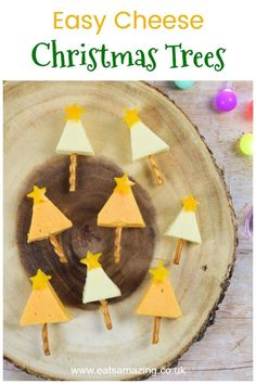 Cheesy Christmas Trees : Easy cheese Christmas trees recipe - fun Christmas party food appetiser or festive snack for kids Christmas Tree Food, Christmas Snacks, Christmas Activities, Christmas Themes, Christmas 2019, Kids Christmas, Christmas Recipes, Celebrating Christmas, Holiday Recipes