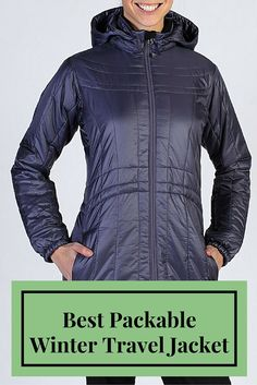 Best Packable Winter Travel Jacket for Women: The Storm Logic Coat from ExOfficio