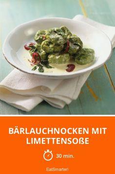 Bärlauchnocken mit Limettensoße – soo gut!