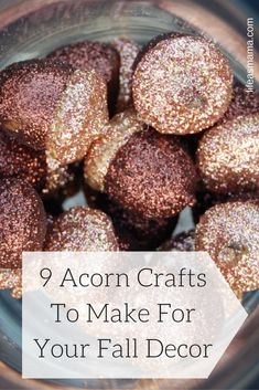 I also love that there are so many ways to use acorns in crafts and in your fall decor. They can be found in nature or at your craft store and inspire you to craft and decorate. Here are 8 adorable acorn crafts you can make this fall.