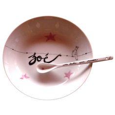 """Assiette personnalisée """"Petit oiseau roi"""""""