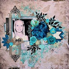 Hi there!  Today I share with you my  June DT work for 2 Crafty Chipboard .....    My first page 'Adore' is of my girl....            ...