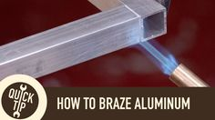 Brazing aluminum with a propane torch and brazing rods. Subscribe to my YouTube channel for weekly tutorial videos: http://www.youtube.com/subscription_cente...
