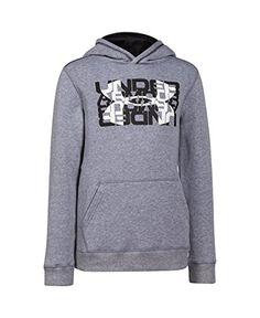 Amazon.com  Under Armour Boys  UA Rival Fleece Logo X2 Hoodie  Sports    Outdoors b38800d62a41
