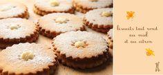 les Girafes: petits biscuits ronds au miel et au citron, une recette illustrée