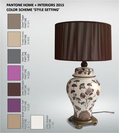 $89 - Decorator urn-shaped, hand-painted ceramic lamp, very high quality, very heavy, was over $300 originally. The shade shown is a silk string shade that I purchased separately for around $100. I am offering the lamp with, or without, the shade. (I have used a white silk shade with this lamp as well.) - $65 lamp only, $89 with the shade. 29 H x 10 W inches
