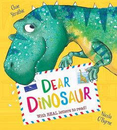 Dear Dinosaur Chae Strathie and Nicola O'Byrne Scholastic Dinosaurs are an ever-popular theme in picture books but how to give it a new slant? Chae Strathie does it with letters. After a visit to t… Dinosaur Books For Kids, The Good Dinosaur, Childrens Books, Kid Books, Dinosaur Facts, Dinosaur Activities, Dinosaur Printables, Dinosaurs Series, Daycare Curriculum