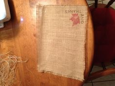 Burlap placemat for Thanksgiving