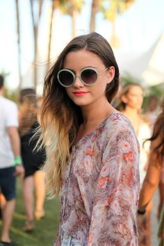 Coachella 2013 - It's A Dull Life Cat Eye Sunglasses, Round Sunglasses, Ombre Effect, Dark Shades, Face Shapes, Awesome, Summer, Hair, Clothes