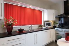 Complete blind in 'Homespun' fabric. Bring some autumnal warmth to your vertical blind window dressing this Autumn!