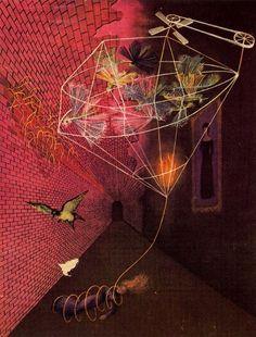 Angustia ('Anguish'), 1947 gouache by Remedios Varo