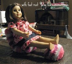 Karen mom of three's craft blog: How to make a doll chair for an 18 inch doll