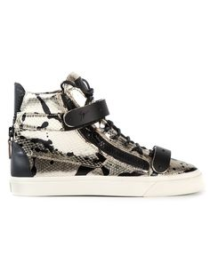 Giuseppe Zanotti Design Zip Detail Hi-top Sneakers - Biondini Paris - Farfetch.com