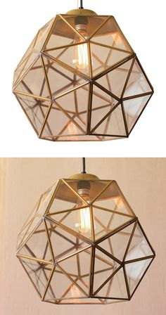 Simply bee-autiful. Lined with antiqued gold metal framing, this Honey Hive Pendant Light will make a lively addition to your favorite contemporary room. Its single light is chicly covered by faceted h...  Find the Honey Hive Pendant Light, as seen in the Our Best Lighting Sale Collection at http://dotandbo.com/collections/our-best-lighting-sale?utm_source=pinterest