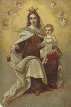 Virgen del Carmen - Our Lady of Mt. Blessed Mother Mary, Divine Mother, Blessed Virgin Mary, Catholic Art, Catholic Saints, Religious Art, Mont Carmel, Verge, Lady Of Mount Carmel