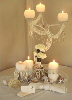 Make a fancy candelabra centerpiece for under a fiver | Offbeat Bride