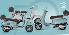 Vespa, the Tuscan scooter icon, is celebrating its birthday on the 23 of April this year. It is opening an exhibition in the Piaggio museum. 70th Birthday, Happy Birthday, 70th Anniversary, Vespa Scooters, Learning Italian, Top Cars, Animated Gif, Animation, Blogging