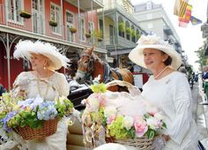 """New Orleans Easter Parade.""""In her Easter bonnet with all the frills upon it, she'll be the grandest lady in the Easter Parade! Southern Ladies, Southern Belle, Southern Living, March Equinox, Easter Parade, Good Times Roll, Down South, Savannah Chat, Louisiana"""