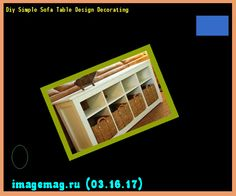 Diy Simple Sofa Table Design Decorating 163535 - The Best Image Search