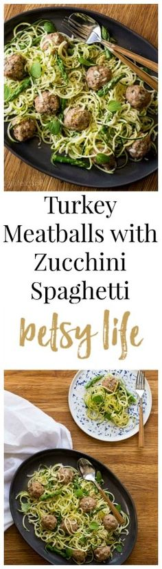 Healthy turkey meatballs are simple to make, and when served with zucchini noodles, you've got yourself an easy healthy dinner recipe.