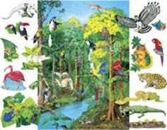 Rainforest Animals Flannelboard Figures w/Unmounted Flannelboard - Pre-Cut -- To view further for this item, visit the image link.