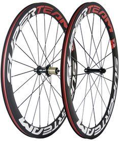 Superteam 700C Clincher Carbon Wheels 50mm Carbon Bike Wheels Bicycle Wheelset  #UnbrandedGeneric