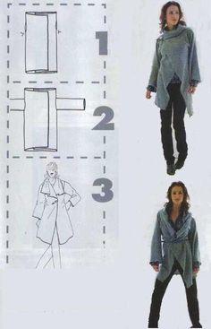 Patrón de chaqueta rectángulo