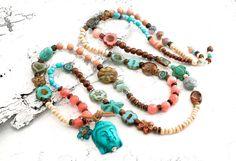 Charm- & Bettelketten - ★ Tolle Bettelkette ☮ Summertime ★ Buddha - ein Designerstück von Lunas-SchmuckART bei DaWanda