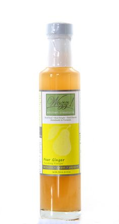#vinegar #saladdressing  Spiced Pear & Ginger gourmet fruit vinegar. www.wozzkitchencreations.com