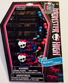 MONSTER HIGH Best Ghoul Friends  NECKLACES  NEW in package Jewelry