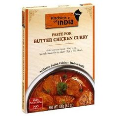 Kitchens of India Paste for Butter Chicken Curry, 3.5-Ounce Boxes (Pack of 6), (curry butter chicken, indian food, curry paste, butter chicken, kitchens of india, indian cuisine, indian sauce, sauces, curry, hip hop)