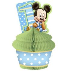 Hallmark 201212 Disney Mickeys 1st Birthday Centerpiece by Hallmark. $17.95. Design is stylish and innovative. Satisfaction Ensured.. Great Gift Idea.. Manufactured to the Highest Quality Available.. Includes (1) centerpiece. Dimensions: (inches) Length: 13.5. Width: 11. Height: 0.5