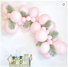 icu ~ Pin on Ariel & Matt's Wedding ~ Pink Balloon Garland DIY Balloon Garland Light Pink Balloon Balloon Arch Diy, Balloon Garland, Balloon Decorations, Birthday Decorations, Balloon Ideas, Tropical Party Decorations, Birthday Backdrop, Deco Ballon, Girl Birthday